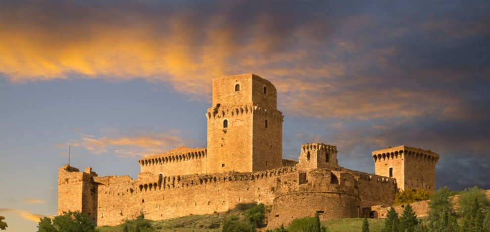 Castle in Umbria at sunset Dreamtime photo ID 35357933 Christian Delbert