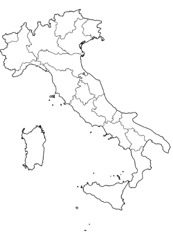 Picture of map of Italy