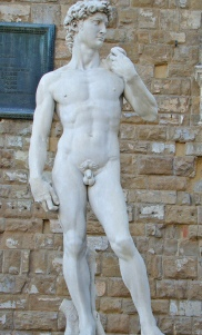 One Of Many statutes Of David